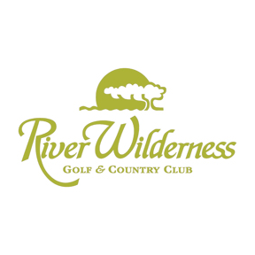 Logo of golf course named River Wilderness Golf and Country Club