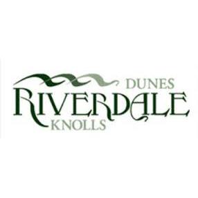 Logo of golf course named Riverdale Dunes Knolls Public Links