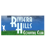 Logo of golf course named Riviera Hills Golf and Country Club