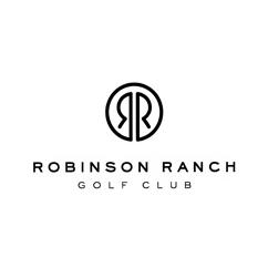 Logo of golf course named Robinson Ranch