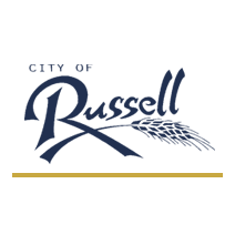 Logo of golf course named Russell Memorial Park Golf Course
