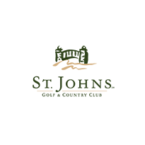 Logo of golf course named Saint Johns Golf and Country Club