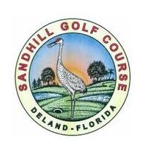 Logo of golf course named Sandhill Golf Course
