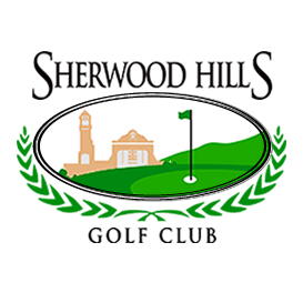 Logo of golf course named Sherwood Hills Golf and Country Club