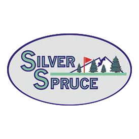 Logo of golf course named Silver Spruce Golf Course