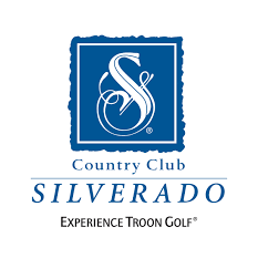 Logo of golf course named Silverado Country Club and Resort