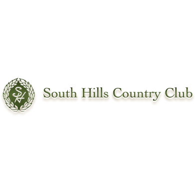 Logo of golf course named South Hills Country Club