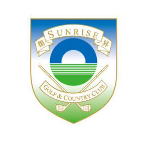 Logo of golf course named Sunrise Golf and Country Club