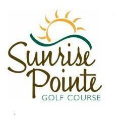 Logo of golf course named Sunrise Pointe Golf Course