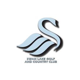 Logo of golf course named Swan Lake Golf and Country Club