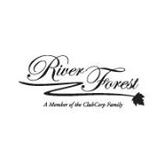 Logo of golf course named The Club at River Forest