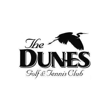Logo of golf course named The Dunes Golf and Tennis Club