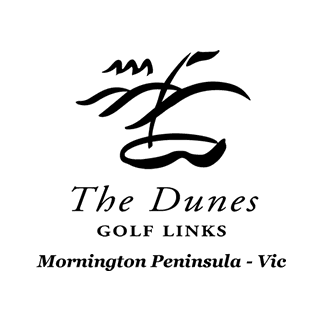 Logo of golf course named The Dunes Golf Links