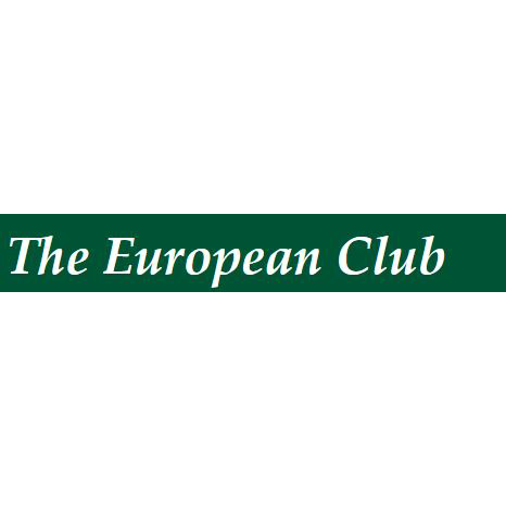 Logo of golf course named The European Golf Club