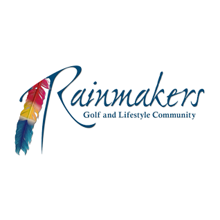 Logo of golf course named The Golf Club at Rainmakers