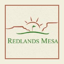 Logo of golf course named The Golf Club at Redlands Mesa