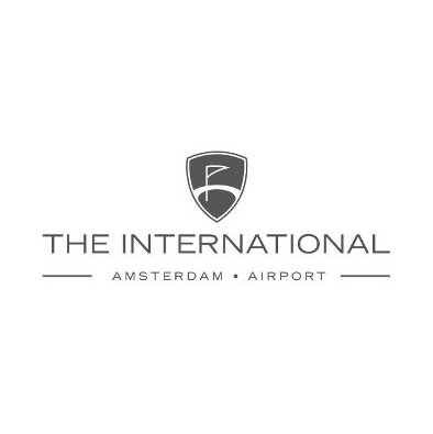 Logo of golf course named The International