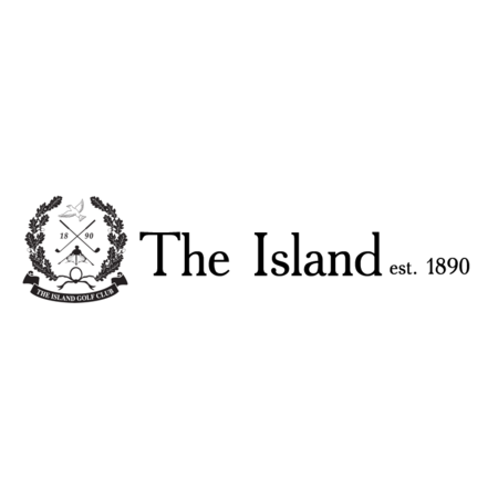 Logo of golf course named The Island Golf Club