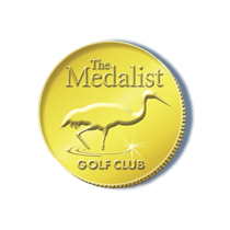 Logo of golf course named The Medalist Golf Club