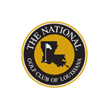 Logo of golf course named The National Golf Club of Louisiana