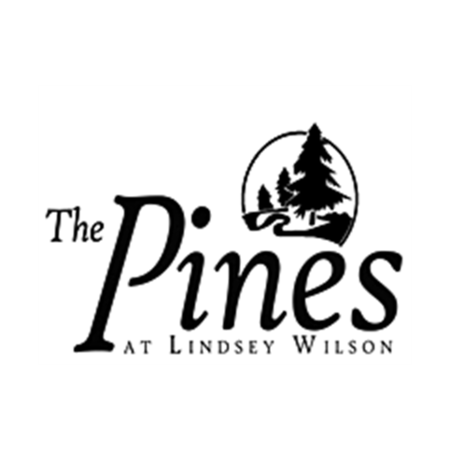 Logo of golf course named The Pines at Lindsey Wilson