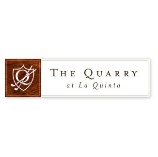 Logo of golf course named The Quarry at La Quinta
