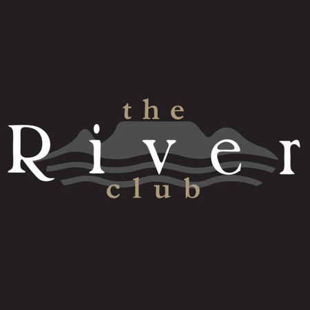 Logo of golf course named The River Club