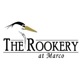 Logo of golf course named The Rookery at Marco