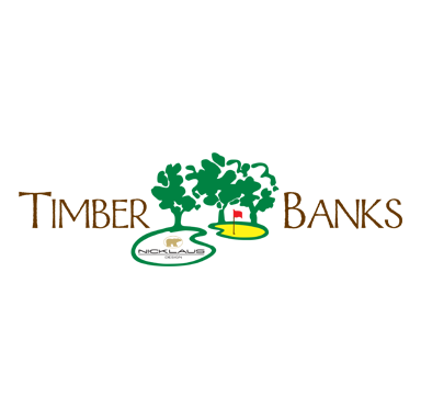 Logo of golf course named Timber Banks Golf Club and Marina
