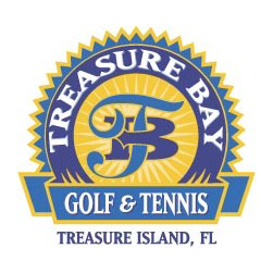 Logo of golf course named Treasure Bay Golf and Tennis
