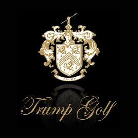 Logo of golf course named Trump International Golf Club