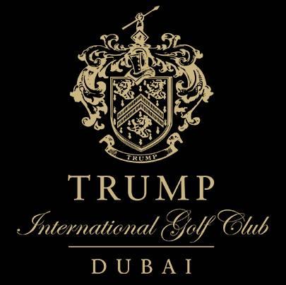 Logo of golf course named Trump International Golf Club Dubai