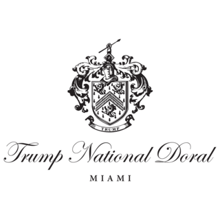 Logo of golf course named Trump National Doral Miami - The Golden Palm