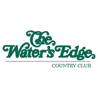 Logo of golf course named Water's Edge Country Club, The