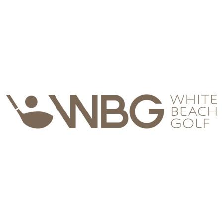 Logo of golf course named White Beach Golf
