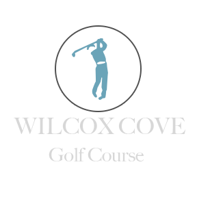 Logo of golf course named Wilcox Cove Cottages and Golf