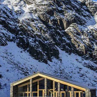 Andermatt swiss alps golf course picture