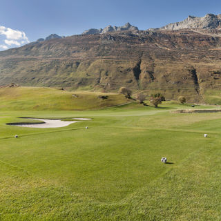 Andermatt swiss alps golf course cover picture
