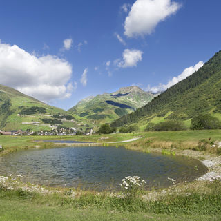 Andermatt swiss alps golf course picture