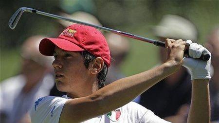 Augusta national golf club matteo manassero checkin picture