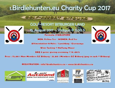 Cover of golf event named 1. Birdiehunters Charity Cup 2017