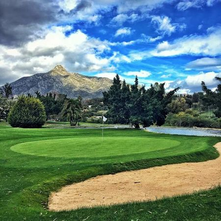 Overview of golf course named La Dama de Noche Golf Club