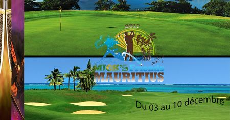 Cover of golf event named Mick's Friends Pro-am Mauritius