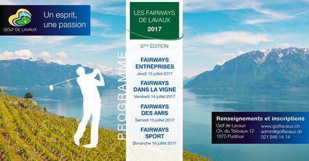 Cover of golf event named Fairways de Lavaux