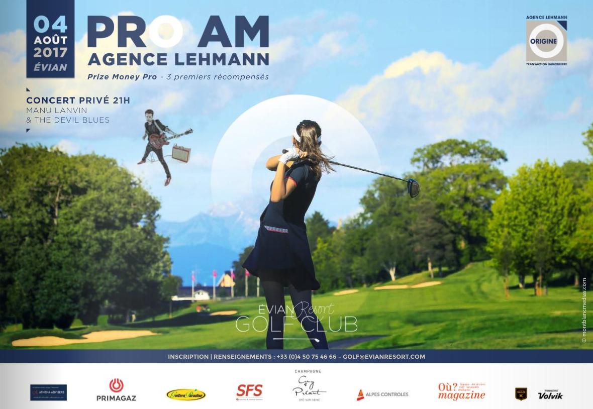 Cover of golf event named Pro Am de l'Agence Lehmann