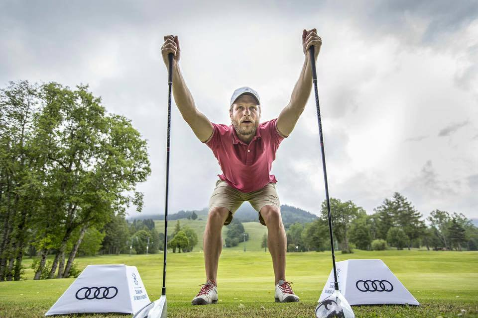 Cover of golf event named AUDI quattro challenge