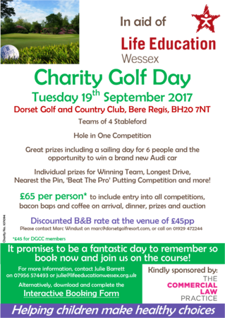 Dorset Charity Golf Day Cover