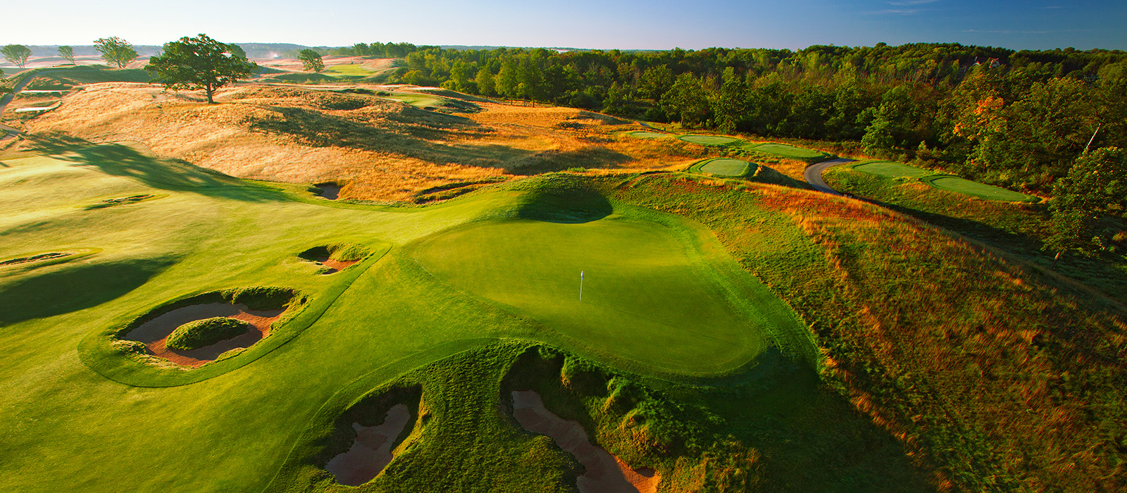 Overview of golf course named Erin Hills Golf Course