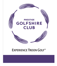 Logo of golf course named The Prestige Golfshire Club
