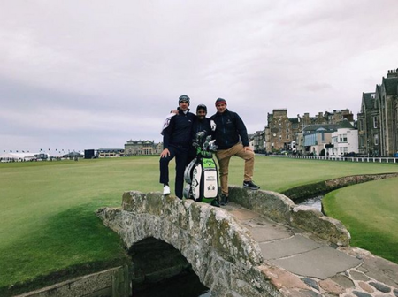 St andrews the old course matteo manassero checkin picture